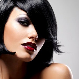 glossy black bob, Ascot hair salon