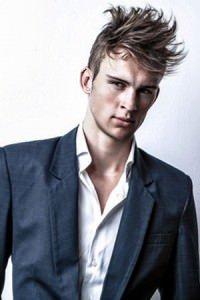 trendy men's hair for prom