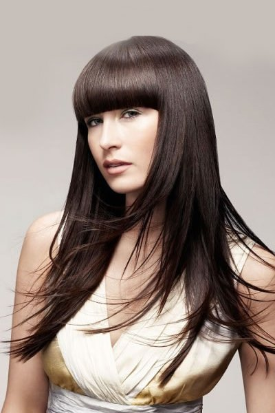 long hair fringe styles precision hair cutting at sunninghill s top hairdressers 4688 | severe fringe long hair style poker straight ladies 2014 trends